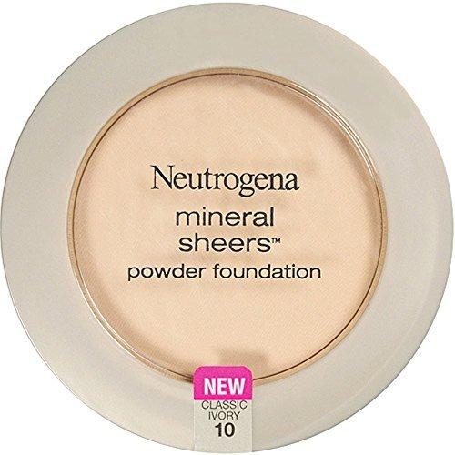 Neutrogena - Neutrogena Mineral Sheers Powder Foundation, Classic Ivory [10], 0.34 oz (Pack of 2)