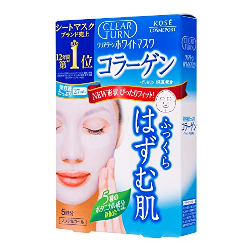 Kose - Kose Cosmeport Clear Turn Face Mask White Collagen 5 Sheets