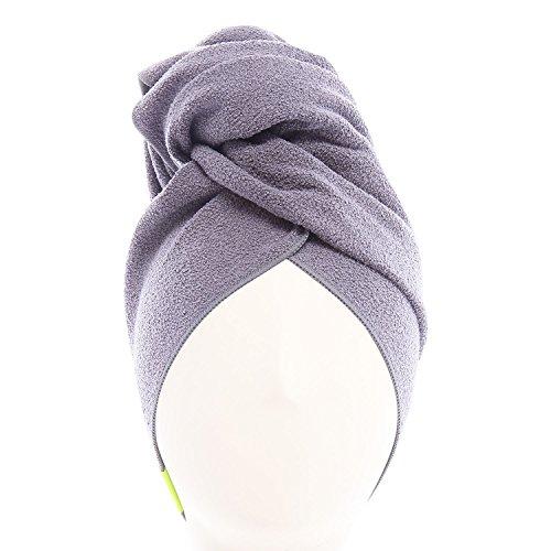 Aquis - Aquis - Original Long Hair Towel, Ultra Absorbent & Fast Drying Microfiber Towel For Longer Hair, Dark Grey (19 x 44 Inches)