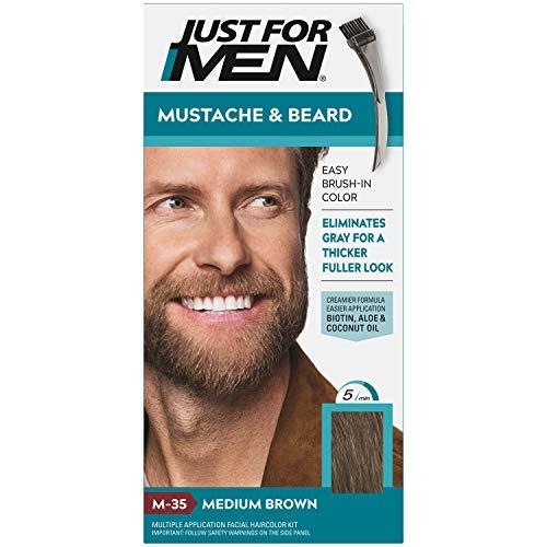 Just for Men - Color Gel Mustache & Beard, Medium Brown
