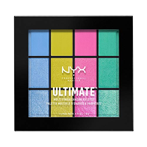NYX - NYX PROFESSIONAL MAKEUP Ultimate Multi-Finish Shadow Palette, Electric, 0.48 Ounce