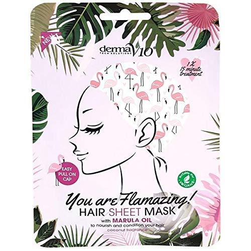 Derma - Derma V10 Flamingo Print Hair Mask