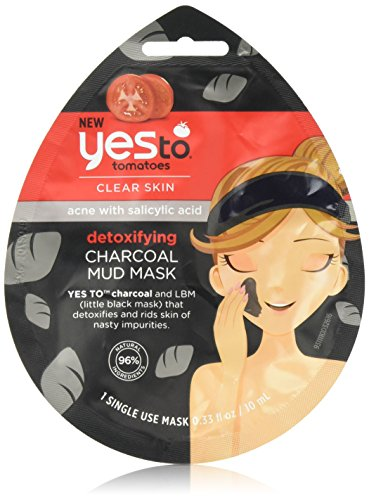 Yes To - Yes To Tomatoes Clear Skin Detoxifying Charcoal Mud Mask, 0.8 Ounce