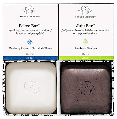 Drunk Elephant - Drunk Elephant Baby Juju + Baby Pekee Bar Soap Travel Case. Exfoliating Face Wash and Moisturizing Bar Cleansers. (1 oz each)