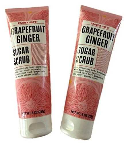 Trader Joe'S - Trader Joe's Grapefruit Ginger Sugar Scrub, 2 Pack Bundle, 8 Ounces Each