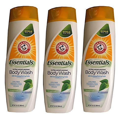 a - 3-Pack Simply Fresh Essentials Ultra Moisturizing Vegan Body Wash