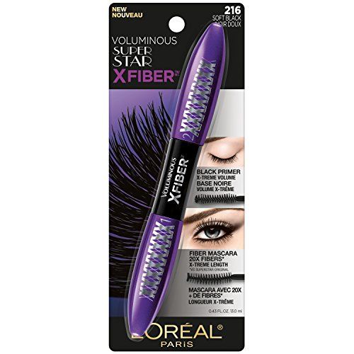 L'Oreal Paris - L'Oréal Paris Makeup Voluminous X Fiber Mascara with Black Primer, Soft Black, 0.43 fl. oz.