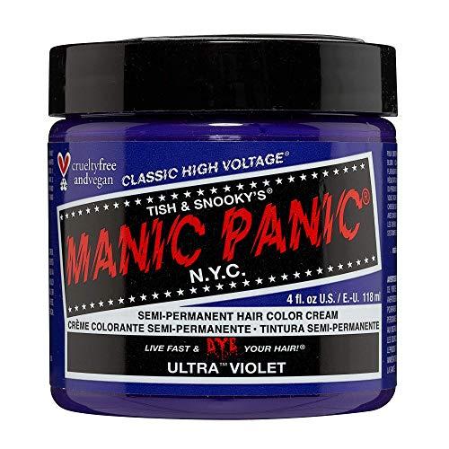 Manic Panic - Manic Panic Semi-Permanent Haircolor Ultra Violet 4 Ounce Jar (118ml) (2 Pack)
