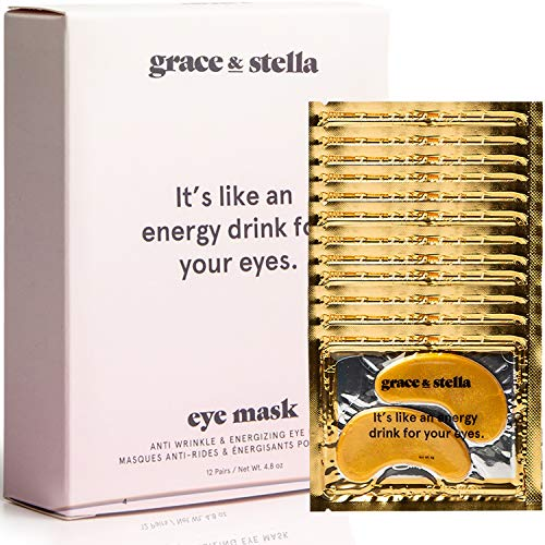 Grace & stella co. - Anti-Wrinkle + Energizing Gold Collagen Eye Masks | Depuffing Undereye Patches