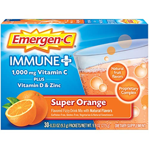 Emergen-C - Emergen-C Immune+ Dietary Supplement Super Orange, 30 ea (Pack of 6)