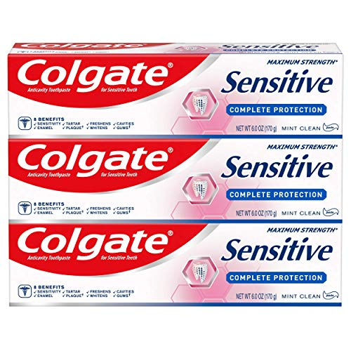 Colgate - Colgate Sensitive Toothpaste, Complete Protection, Mint - 6 ounce (3 Pack)