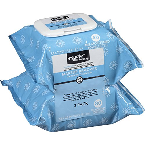 Equate - Equate Makeup Remover Cleansing Towelettes, 40 Ct, 2 Pk