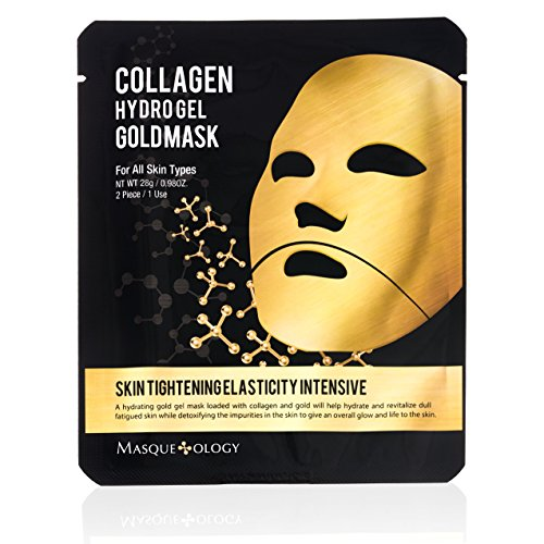 Masqueology - Masqueology - Gold Collagen Hydro-Gel Mask | Skin Tightening, Firming, and Anti-Aging Skincare Face Mask (1 Pack)