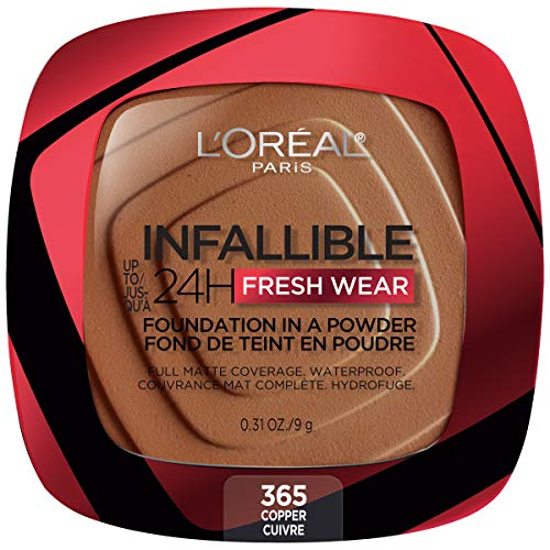L'Oreal Paris - L'Oreal Paris Up To 24h Fresh Wear Foundation In A Powder, The Full Coverage Of A Liquid Foundation, Now In A Weightless Powder Texture, Up To 24h Matte Finish, 0.31 ounces