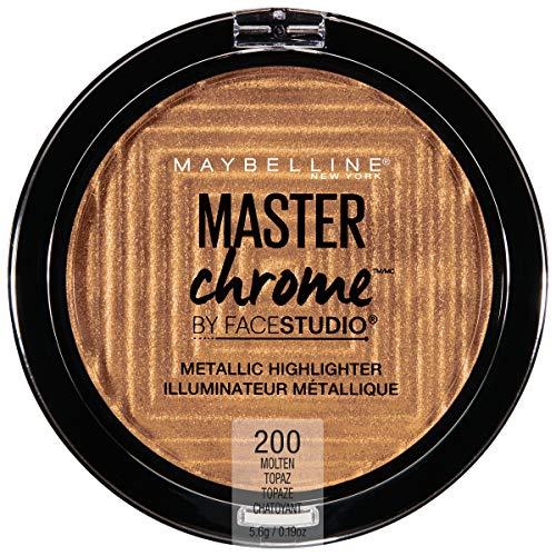 Maybelline - Maybelline New York Facestudio Master Chrome Metallic Highlighter Makeup, Molten Topaz, 0.19 oz.