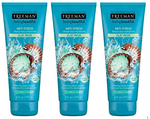 Freeman - Anti-Stress Clay Facial Mask with Dead Sea Minerals