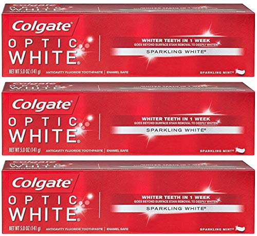 Colgate Colgate Optic White Whitening Toothpaste, Sparkling Mint - 5 ounce