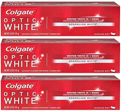 Colgate - Optic White Whitening Toothpaste, Sparkling Mint