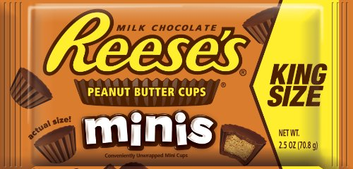 Reese's - REESE'S Chocolate Peanut Butter Candy, Minis, King Size (Pack of 16)