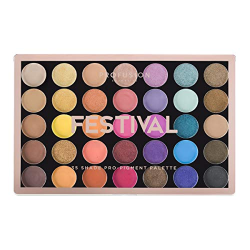 Profusion Cosmetics - 35 Shade Eyeshadow Palette Collection, Festival