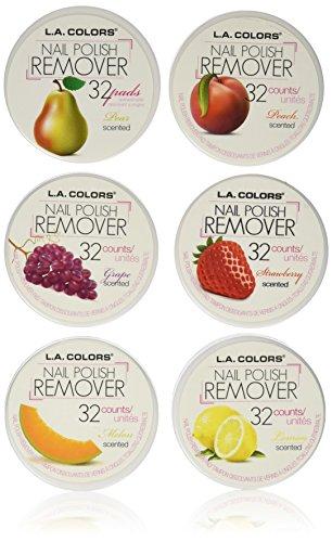 L. A. Colors - L.A. Colors Nail Polish Remover Pads 6 Fruit Scents (32 Pads of each)