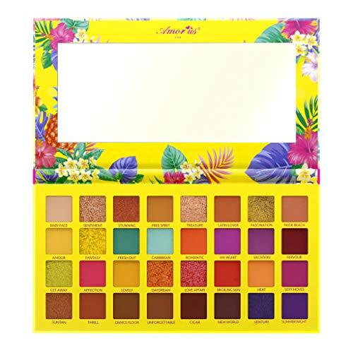 amorus - Amor Us HAVANA BLAST Pressed Pigment Palette Eyeshadow Palette con 32 Pigmentos BRIGHTS
