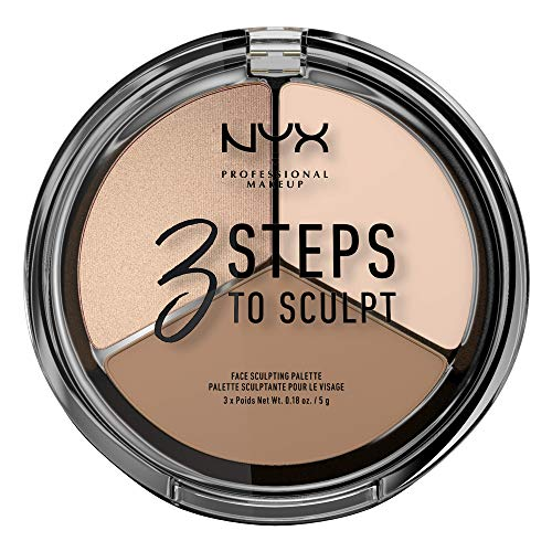 NYX - NYX PROFESSIONAL MAKEUP 3 Steps to Sculpt Face Sculpting Palette, Deep