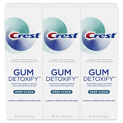 Crest - Crest Gum Detoxify Deep Clean Toothpaste, 4.1 oz, Triple pack
