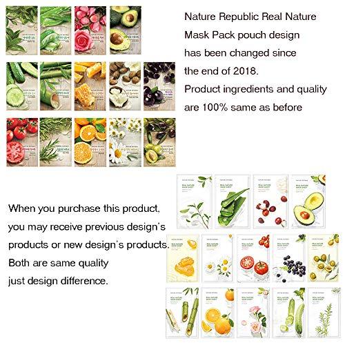 Nature Republic - Nature Republic Real Nature Mask Sheet 10pcs Original Korean Mask Sheet