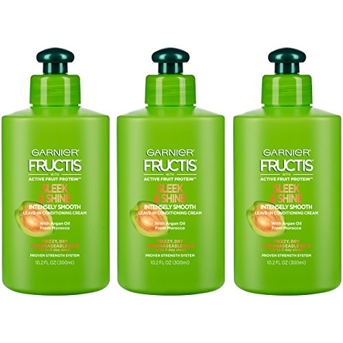 Garnier - Garnier Fructis Sleek & Shine Intensely Smooth Leave-In Conditioning Cream, 10.2 Fl. Oz. (Packaging May Vary), 3 Count