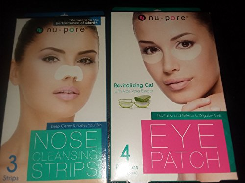 Nu-Pore - 2 pack one Nupore 3 Nose cleaning strips and one Nupore 4 Eye Patch With Aloe Vera