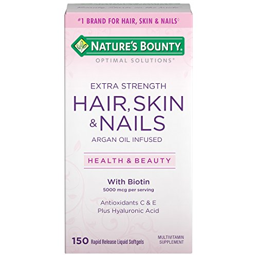 Nature'S Bounty - Nature's Bounty Optimal Solutions Hair Skin & Nails Extra Strength, 150 Softgels, Multivitamin Supplement, with Antioxidants C & E