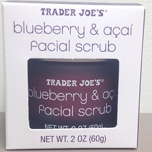 Trader Joe'S - Trader Joe's Blueberry and Acai Facial Scrub, 2 Oz Jar