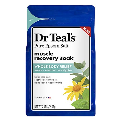 Dr Teal'S - Dr. Teal's Epsom Salt - Muscle Recovery Soak - Whole Body Relief with Arnica, Menthol, Eucalyptus - 2lb bag