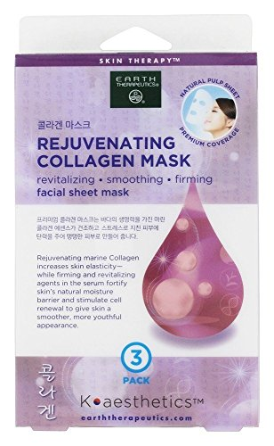 Earth Therapeutics - Rejuvenating Collagen Facial Sheet Mask