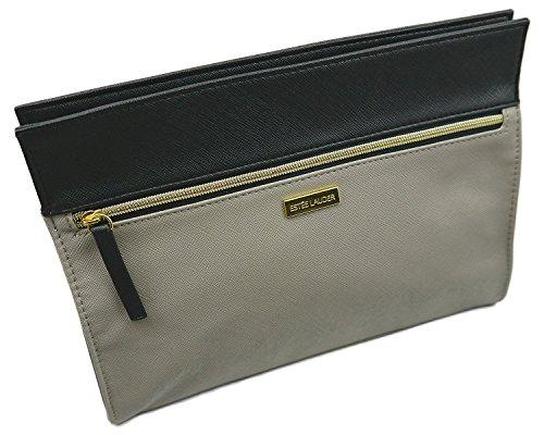 Estee Lauder - Estee Lauder Gray-Black Vinyl MakeUp Cosmetic Bag