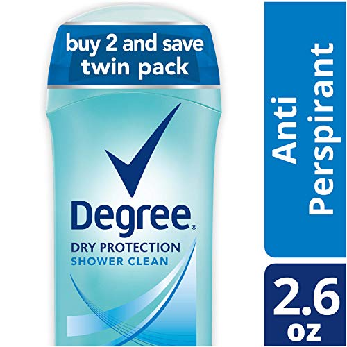 Degree - Degree Women Dry Protection Antiperspirant Deodorant, Shower Clean, 2.6 oz, Twin Pack
