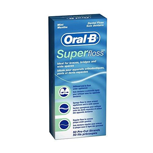 Oral-B - Oral-B Super Floss Pre-Cut Strands Dental Floss, Mint, 50 Count