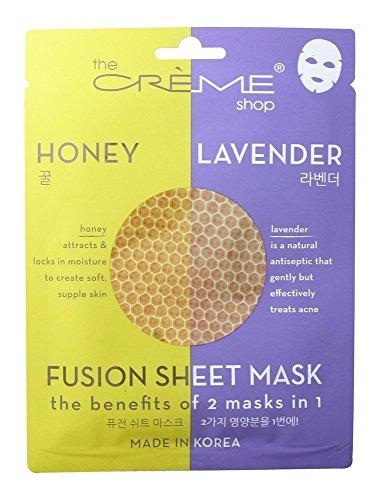 The Creme Shop - Fushion Korean Sheet Mask, Honey and Lavender