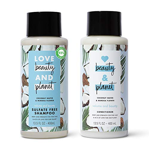 Love, Beauty & Planet - Volume and Bounty Shampoo and Conditioner, Coconut Water & Mimosa Flower