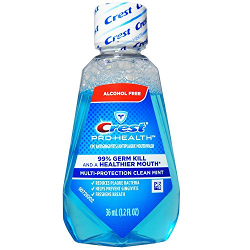 Crest - Crest Pro-Health Mouthwash, Alcohol Free, Multi-Protection Clean Mint 1.2 oz