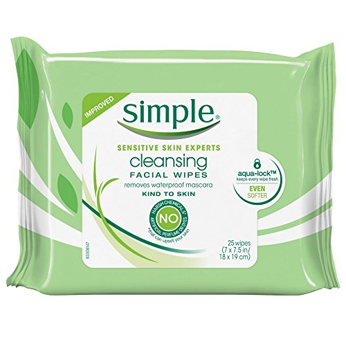 Simple Simple Cleansing Facial Wipes 25 Each (Pack of 2)