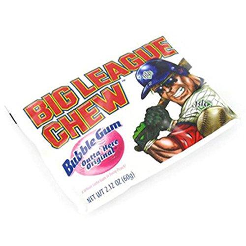 Big League Chew - The Official Big League Chew Original Bubble Gum + Tray (12 Packs) with a Big League Chew Authenticity Seal