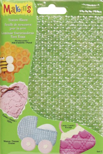 Makin's USA - Makin's USA Clay Texture Sheets, 7-Inch by 5-1/2-Inch, 4 Per Package