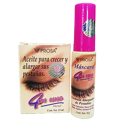 Prosa - Combo Pack-Prosa Mascara For Enlarging Eyelashes 1 rimel con aceite de mamey oil Enlarging Eyelashes