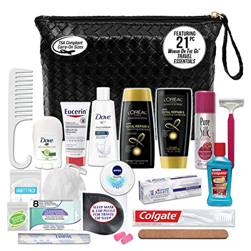 Convenience Kits - Convenience Kits Women's Premium 20-Piece Necessities Travel Kit,  Featuring: Fructis Hair Products