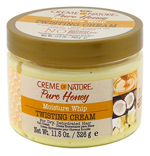Creme of Nature Creme Of Nature Pure Honey Twisting Cream 11.5 Ounce Jar (340ml) (2 Pack)
