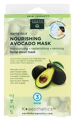 Earth Therapeutics - Nourishing Avocado Facial Sheet Mask