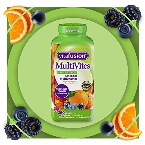 Vitafusion - Vitafusion MultiVites Essential Multivitamin Natural Berry, Peach and Orange Flavor 260 ct.