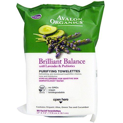 Avalon Organics - Avalon Organics Brilliant Balance Purifying Towelettes, 30 Count